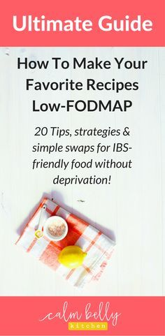 I'm laying out every tip, trick, strategy and substitution I know to make crave-able, drool-worthy recipes that happen to be low-FODMAP.Click through to read the epic list of makeover strategies that starts with simple swaps and progresses to mini recipes (Blue Cheese Dressing! Citrus-Herb Marinade! Flavorful Tomato Sauce!) and creative flavor tactics. You can still eat the food you love and control your IBS on the fodmap diet!
