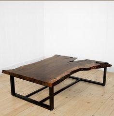 wood slab coffee table from Voos