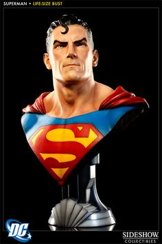 Superman Life-Size Bust - Sideshow Collectibles - SideshowCollectibles.com