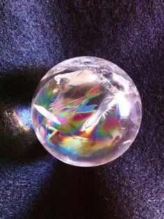 Stunning Rainbow Quartz Crystal Ball or Sphere 150 by FaesBlueMoon, $29.00