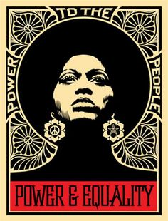 Shepard Fairey Afrocentric, Power and Equality (AP) - Framed