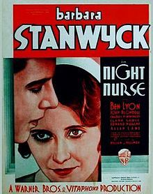 Directed by William A. With Barbara Stanwyck, Ben Lyon, Joan Blondell, Clark Gable. A nurse enlists the help of a petty criminal to foil a sinister plot to murder two children. Classic Movie Posters, Classic Movies, Film Posters, Cinema Posters, Old Movies, Vintage Movies, Vintage Posters, Barbara Stanwyck Movies, Pre Code Movies