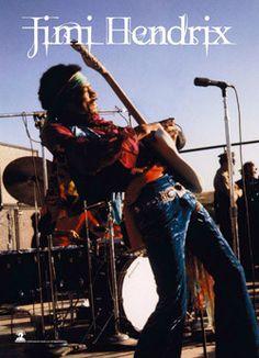 51786 Jimi Hendrix - Stage Fabric Poster – Preegle.com