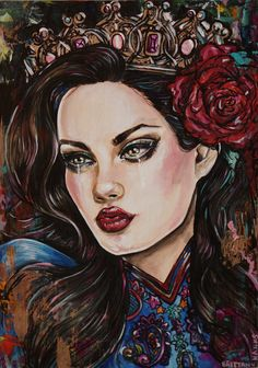 Snow White - 8x10 Canvas Print