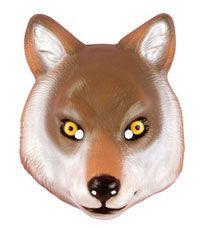 Máscara de Lobo Adulto Deluxe - Máscaras de animales