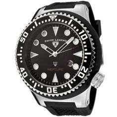Swiss Legend Men's 21818D-01 Neptune Collection Black Textured Rubber Watch Swiss Legend. $93.76. Date function. Precise Swiss-quartz movement. Black dial with luminous hands and hour markers; black stainless steel unidirectional bezel; screw-down crown. Durable mineral crystal; brushed and polished stainless steel and rubber case; black textured rubber strap. Water-resistant to 330 feet (100 M). Save 76% Off!