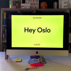 Hey Oslo  @wearemucho & we will be giving a talk next Feb. 26th at @grafill_ #heystudio #heystudio