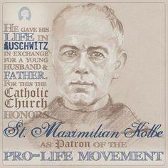 Beautiful Pro-Life St Maximilian! Members | Awestruck Catholic Social Network