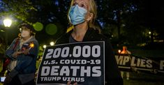 """Trump Gives Himself """"A+"""" on Covid-19 Response as US Death Toll Hits Grim 200,000 Milestone 