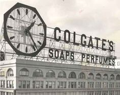 The Original Colgate Clock as it appeared in Jersey City, New Jersey !