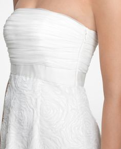 Tulle Bloom Strapless Gown @Ann Taylor @Style Me Pretty