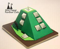 Low- Poly Bowser Pavilion; model / paper / architecture / pavilion / miniature / vancouver / MPPC / mini paper pavilion club