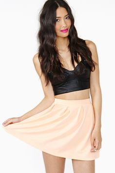 Scuba Skater Skirt in Peach