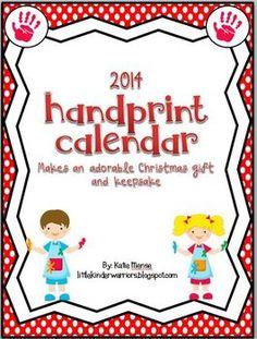 Handprint Calendar for Christmas