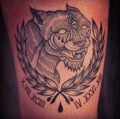 memorial piece for my bb girl done at Chimera Tattoo in Santa. Future Tattoos, New Tattoos, Panther Images, New Tattoo Designs, Chimera, Animal Tattoos, Traditional Tattoo, Tattoo Inspiration, Tatting