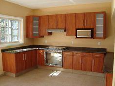 Simple Kitchen Design, Kitchen Room Design, Home Decor Kitchen, Interior Design Kitchen, Kitchen Cabinet Door Styles, Wooden Kitchen Cabinets, Kitchen Cabinet Layout, Kitchen Cabinets Color Combination, Kitchen Layout Plans