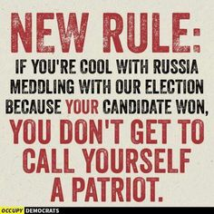 Russian interferes in U.S. elections, most Republicans do not see this as a problem. Traitors, one and all.