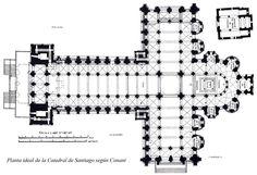 Planta catedral de Santiago de Compostela