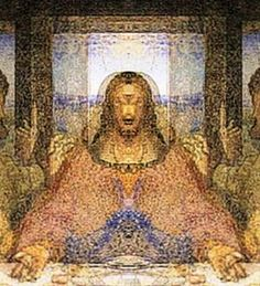 """Looking at the famous Da Vinci, """"The Last Supper"""" picture, mirroring and inverting the picture in the correct way, inverting it right down... I think it shows Jesus was under project monarch which is ancient way Satan has hurt many angels and Gods people throughout history."""