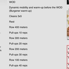 Wod - sub running for rowing when needed
