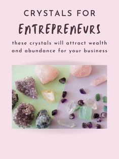 Are you an entrepreneur strugling to attract the wealth you deserve? Start incorporating these gemstones by your desk and around your home (or office) and watch the money flow. #crystals #gemstones #stones #spirituality Crystals For Wealth, Stones And Crystals, Lucky Stone, Rocks And Minerals, Plexus Products, Feng Shui, Abundance, Attraction, Affirmations