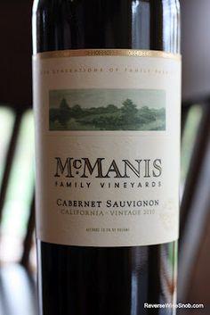 McManis Family Vineyards Cabernet Sauvignon 2010 - An Everyday Cabernet. $7.99, http://www.reversewinesnob.com/2012/09/mcmanis-family-vineyards-cabernet-sauvignon.html