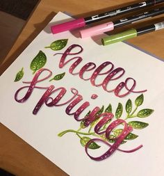 Hand Lettering Styles, Hand Lettering Quotes, Doodle Lettering, Creative Lettering, Brush Lettering, Lettering Design, Calligraphy Words, How To Write Calligraphy, Calligraphy Alphabet