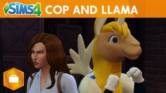 The Sims 4 Get to Work: Cop and Llama