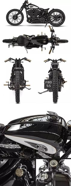 A stunning Custom Harley Davidson Softail called 'Singapore' built by One Way Machine