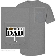 Football Dad - name and number - pocket