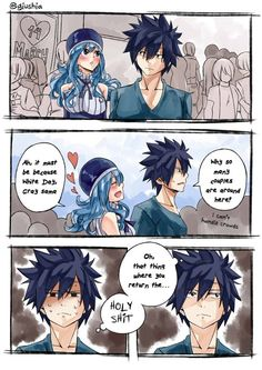 {Fairy Tail} Juvia and Gray Fairy Tail Meme, Fairy Tail Juvia, Fairy Tail Erza Scarlet, Fairy Tail Comics, Fairy Tail Gray, Fairy Tale Anime, Fairy Tail Manga, Fairy Tail Ships, Fairy Tales