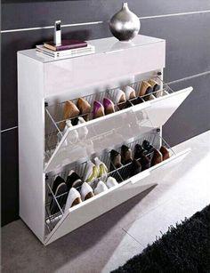 Design on pinterest vertical shoe rack pilates studio for Zapateras de metal