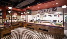 Einblick auf den Counterbereich. Hier unser Ristorante SPIGA an der Eisengasse 9 in Basel. Prego, bestellen Sie bitte an der Bar! A presto!