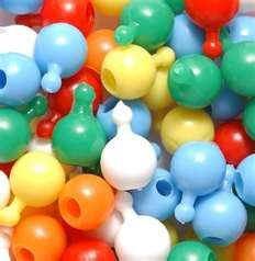 pop beads,had a billion of these to make all kinds of jewelry as a kid. I loved them.