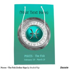 Pisces - The Fish Zodiac Sign Medium Gift Bag Lucky Colour 76c7863b6c101