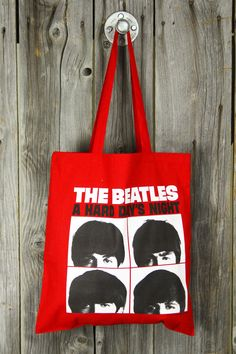 The Beatles Hard Day's Night Canvas Tote Bag