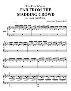 Far From the Madding Crowd - End Titles | Piano Plateau Sheet Music