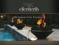 Fire bowls to go next to waterfall