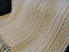 Free Irish Aran Knitting Patterns | Sharondipity: Celtic Aran Afghan Pattern
