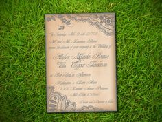 Wedding Invitation and RSVP Card Suite by VintageBellsAndCo