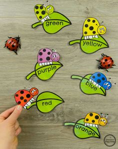 Ladybug Color Matching Preschool Bug Activities for Spring #preschool #bugs #bugtheme #bugactivities #preschoolactivities #preschoolcolors