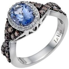 (Was £1899.0) £1399.0  Le Vian 14ct white gold blue topaz 2/3 carat diamond ring