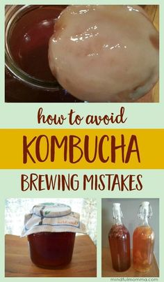 Homemade kombucha brewing mistakes and how to avoid them. Plus the kombucha brewing method that works best for me. | fermentation | probiotics | healthy beverages
