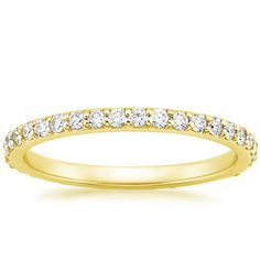 18K Yellow Gold Eternity Petite Shared Prong Diamond Ring (1/2 ct. tw.) from Brilliant Earth