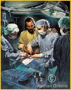 So beautiful. Every surgery I pray that God guides the surgeons hands and I'm so happy to have found this picture. :)