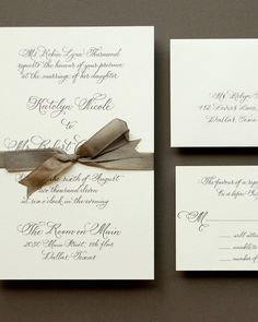 This formal calligraphy invitation is perfect for a traditional affair.Antiquaria
