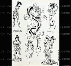 Sailor Jerry / Ink By Mike Malone / Year: 1983 Mike Malone, Tattoo Museum, Tattoo Banner, Korean Tattoos, Traditional Tattoo Design, Special Tattoos, Tattoo Vintage, Traditional Tattoo Flash, Vintage Flash