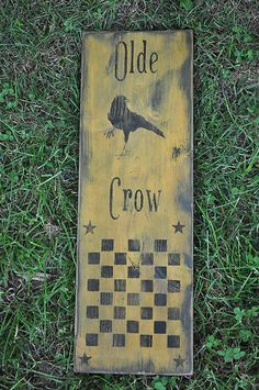 The Original Primitive Marketplace for Handmade Primitives and Country Primitive Home Decor Primitive Signs, Primitive Folk Art, Primitive Crafts, Country Primitive, Wood Crafts, Primitive Painting, Tole Painting, Board Games, Game Boards