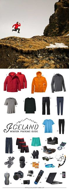 What to Pack for Iceland in Winter - 10 Days in a Carry-on (Men's Version, Click Through to See the Women's Version Too) // localadventurer.com