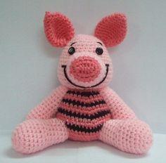 "Piglet 7.08"" - Finished Amigurumi crochet doll toy Home decoration birthday anniversary gift.  via Etsy."